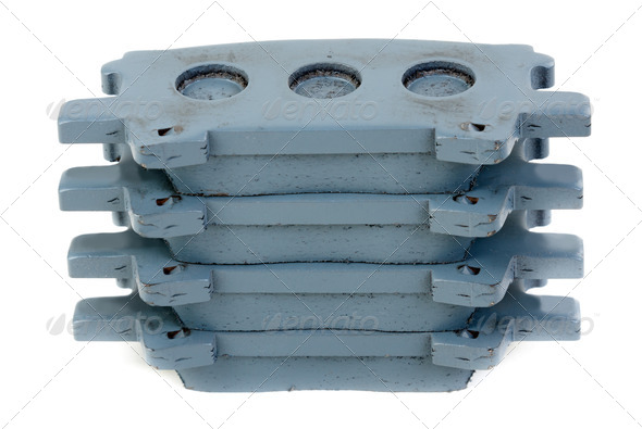 Set of brake pads - Stock Photo - Images