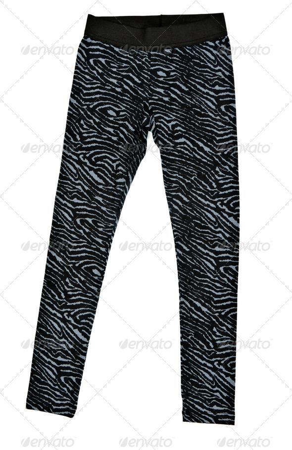 Black women's tight leggings - Stock Photo - Images