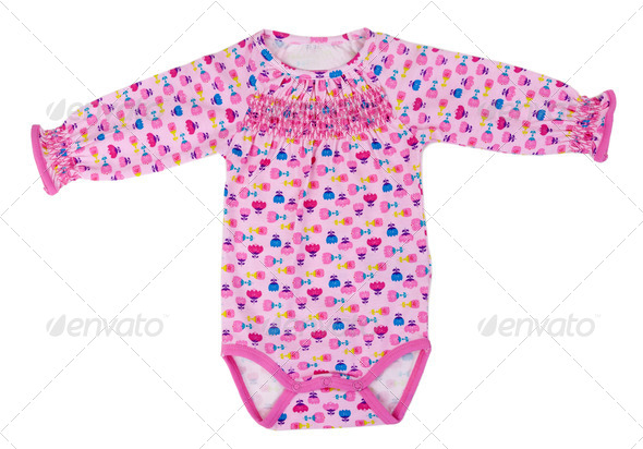 Colored clothes baby - Stock Photo - Images