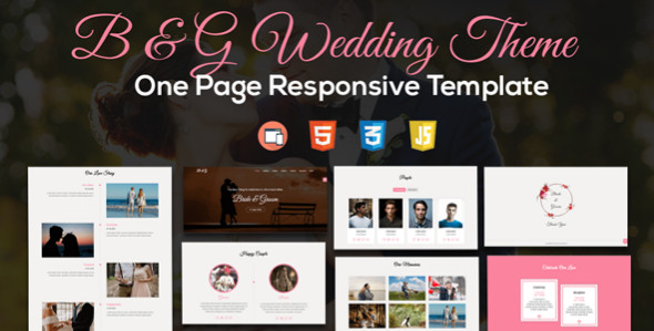 Wedding One Page Responsive HTML5 Templates