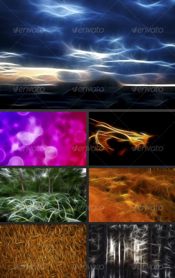 7 Fractal Backgrounds - Abstract Backgrounds