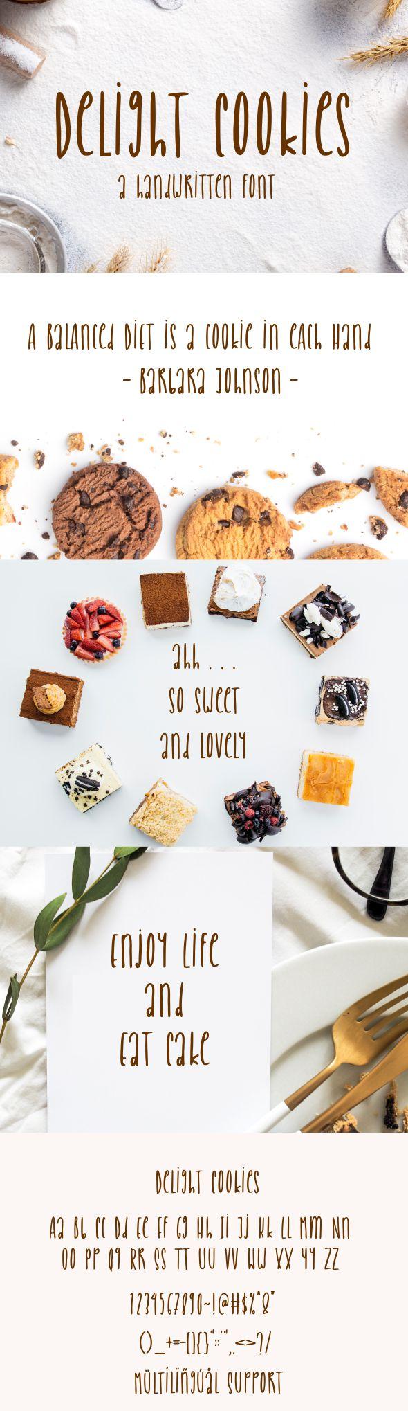 Delight Cookies - A Handwritten Font