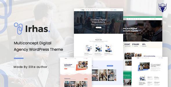 Download Irhas | Digital Agency WordPress Theme Free Nulled