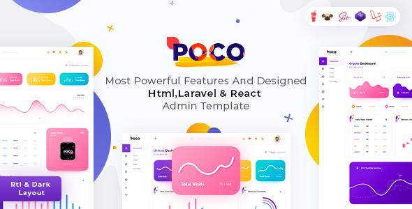 Poco - HTML , Laravel & React Admin Dashboard Template