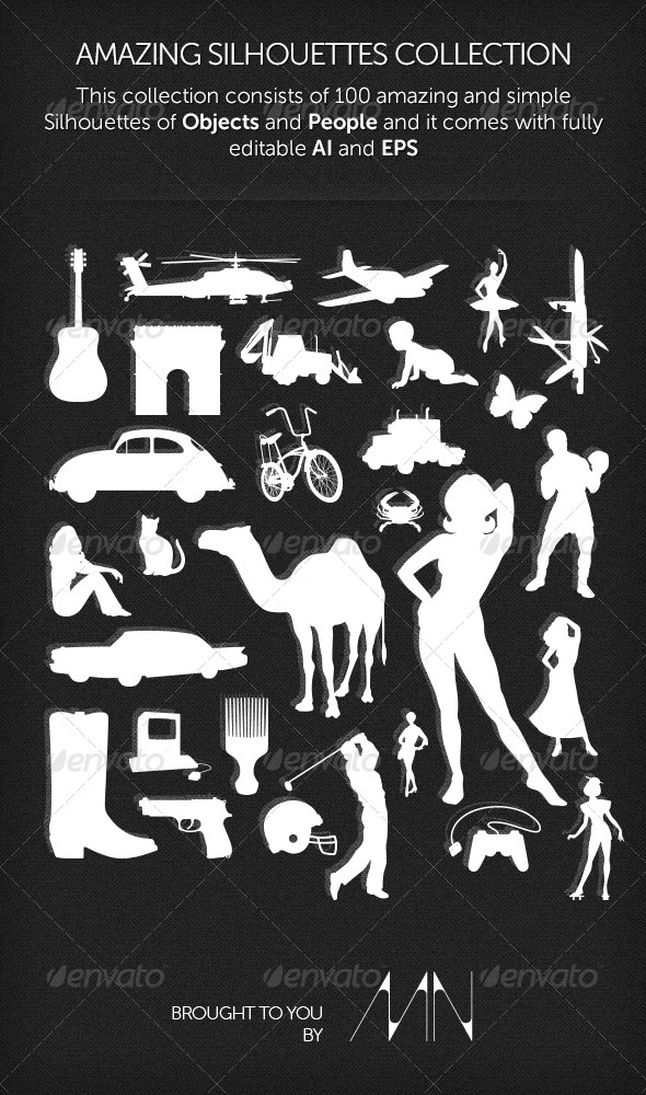 Silhouettes Collection - Miscellaneous Vectors