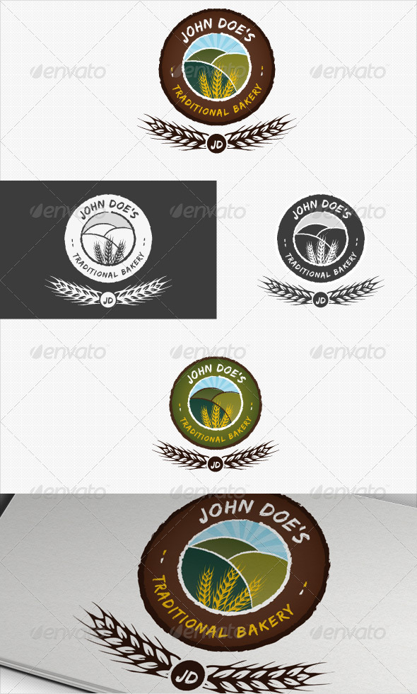 Traditional Bakery or Baking Logo - Nature Logo Templates
