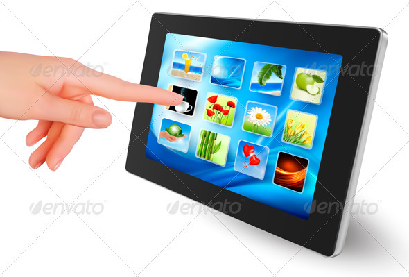 Hand holding touch pad pc - Computers Technology