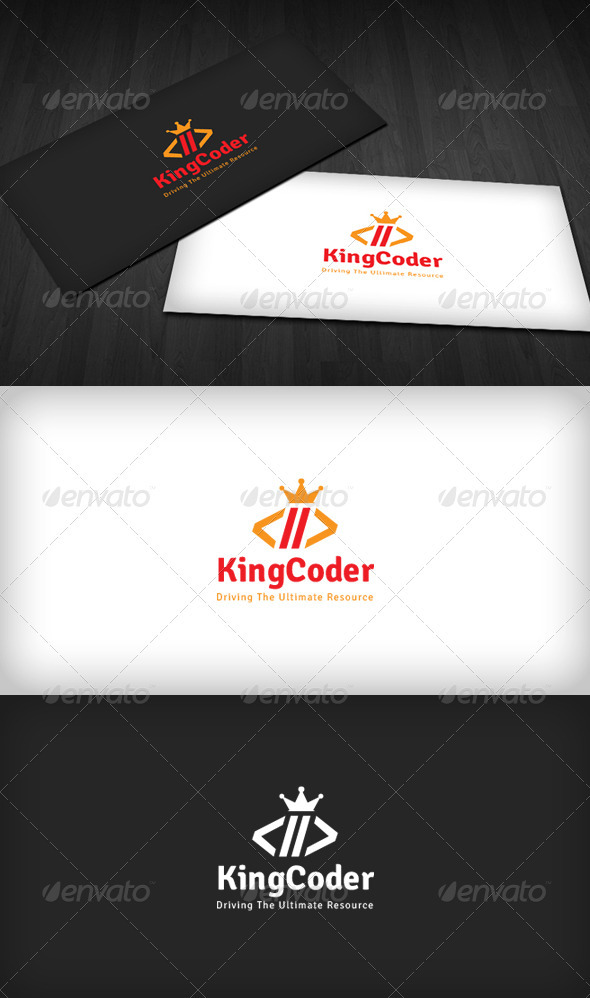 King Coder Logo - Symbols Logo Templates