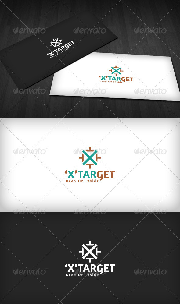 'X' Target Logo - Letters Logo Templates