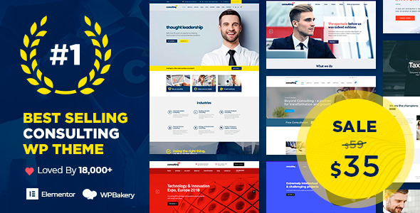 Consulting - Business, Finance WordPress Theme Nulled