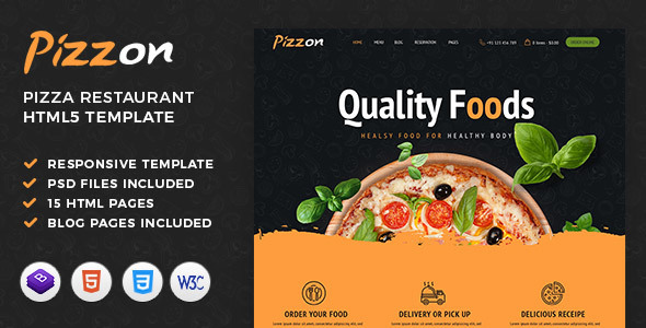 Pizzon | Pizza Restaurant HTML Template