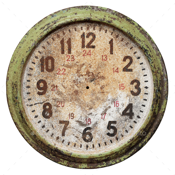 Old clock face without hands - Stock Photo - Images
