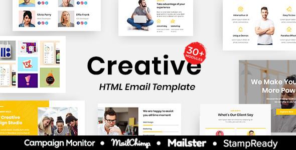 Creative – Multipurpose Responsive Email Template 30+ Modules Mailchimp