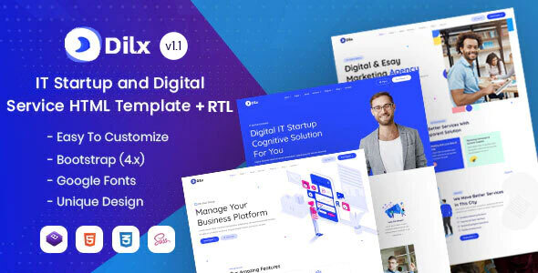 Dilx - IT & Marketing Startup HTML Template