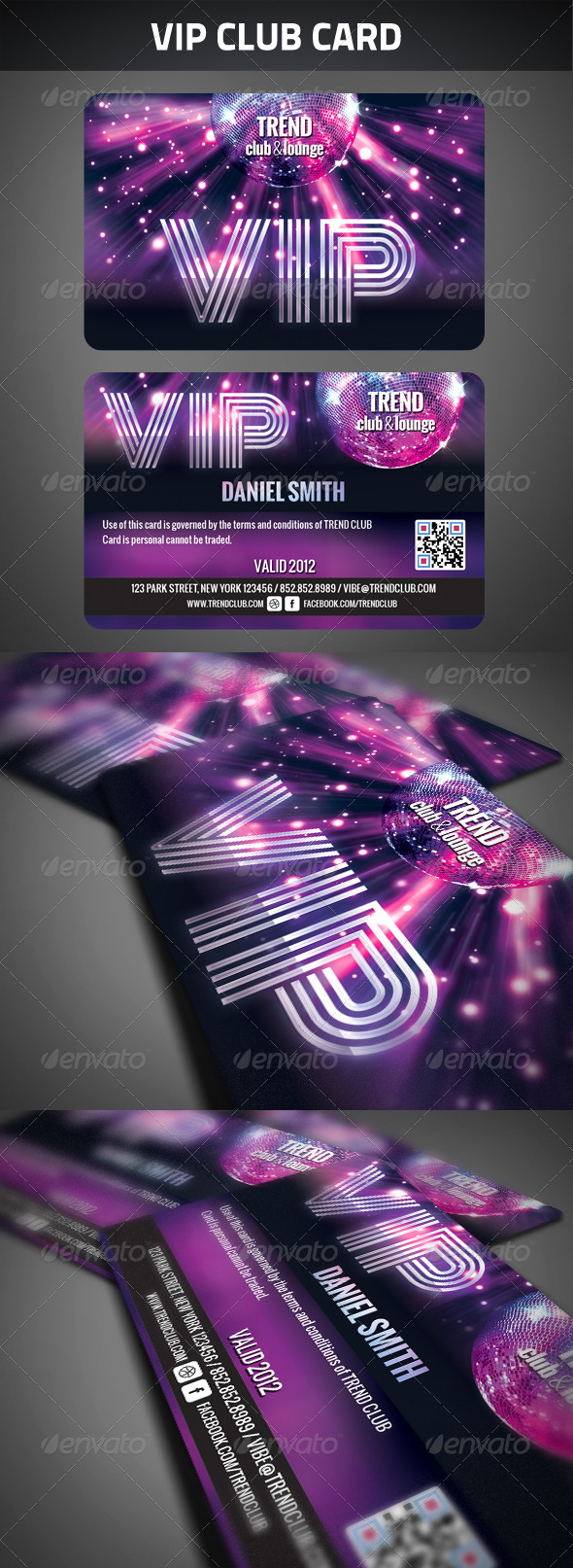 VIP Club Membership Card - Cards & Invites Print Templates
