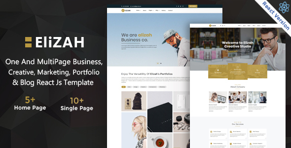 Good Elizah – Business And Corporate  React JS Responsive Website