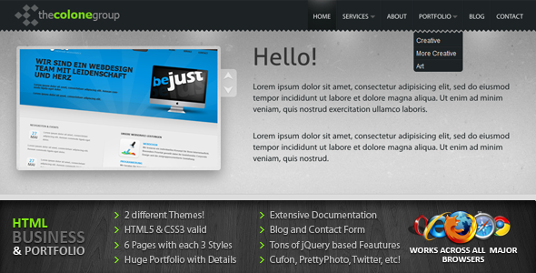 Free Download Colone / CloudDesign 2 in 1 Premium HTML/CSS Nulled Latest Version