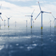 Offshore wind power and energy farm with many wind turbines on the ocean - PhotoDune Item for Sale