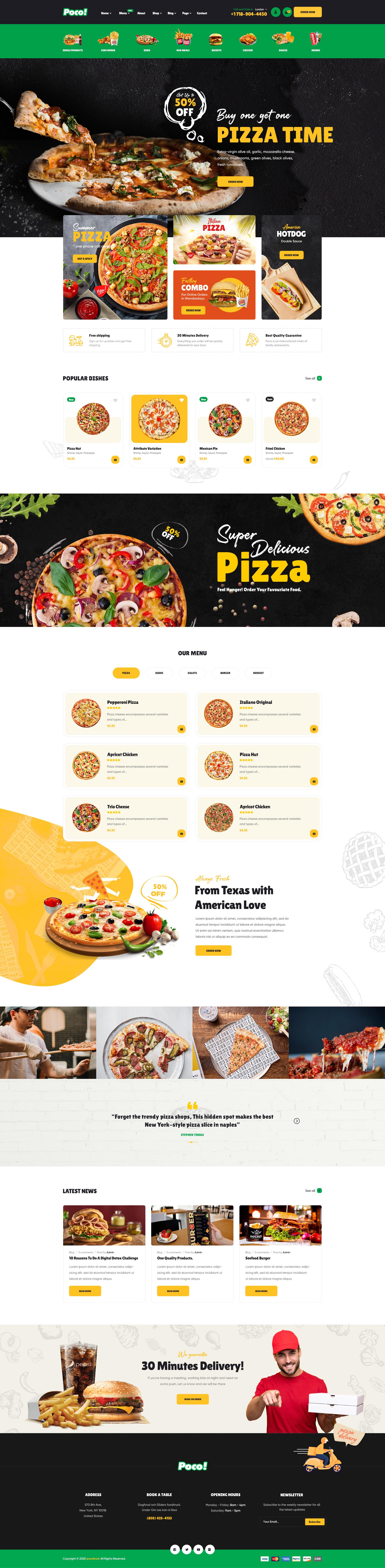 Poco Fast Food Restaurant Wordpress Theme By Pavothemes Themeforest