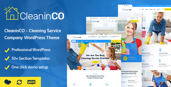 CleaninCO - Home Services WordPress Theme