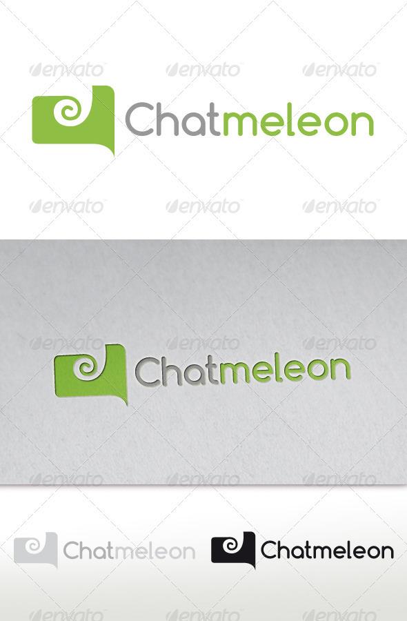 Chameleon Chat Logo (Chatmeleon) - Animals Logo Templates