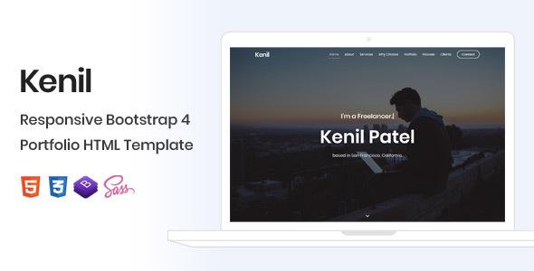Kenil - Responsive Bootstrap 4 One Page Portfolio Template