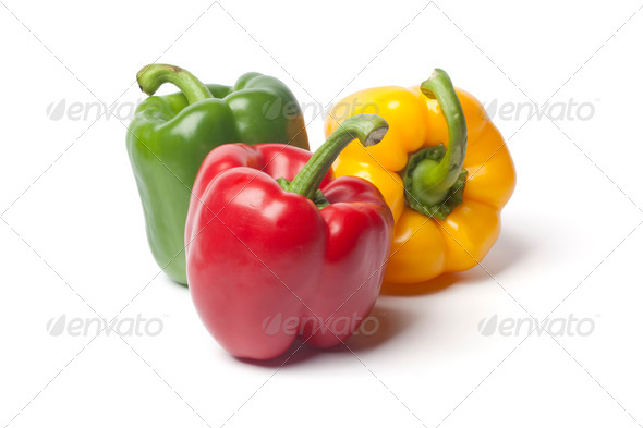 Red,green,yellow bell pepper - Stock Photo - Images