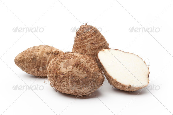 Fresh Taro roots - Stock Photo - Images