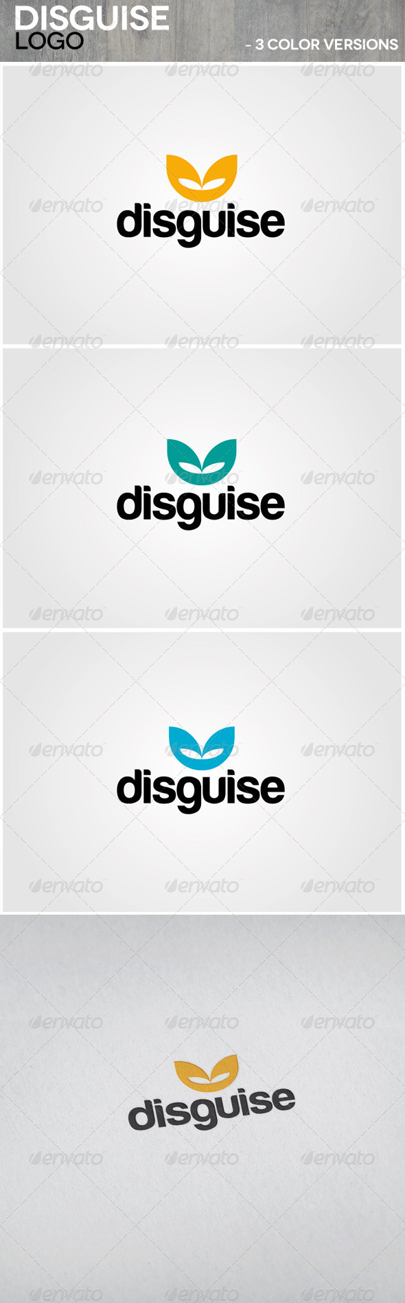Disguise Logo - Vector Abstract