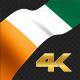 Long Flag Cote D Ivoire - VideoHive Item for Sale