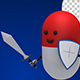 Pill Guardian With Sword And Shield (4-Pack) - VideoHive Item for Sale