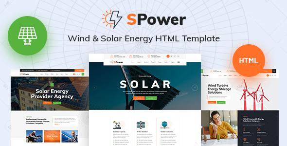 SPower - Wind & Solar Energy HTML5 Template