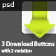 3 Download Buttons - GraphicRiver Item for Sale