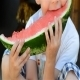 Child Eating Watermelon - VideoHive Item for Sale