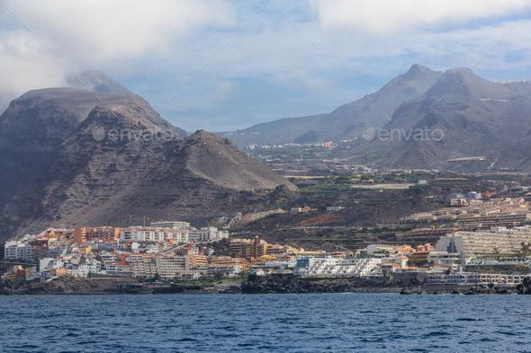 Acantilados de Los Gigantes. Cliffs of Los Gigantes - Stock Photo - Images