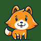 Cute Fox - Logo Mascot