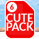 Children's Cutesy Pack 6