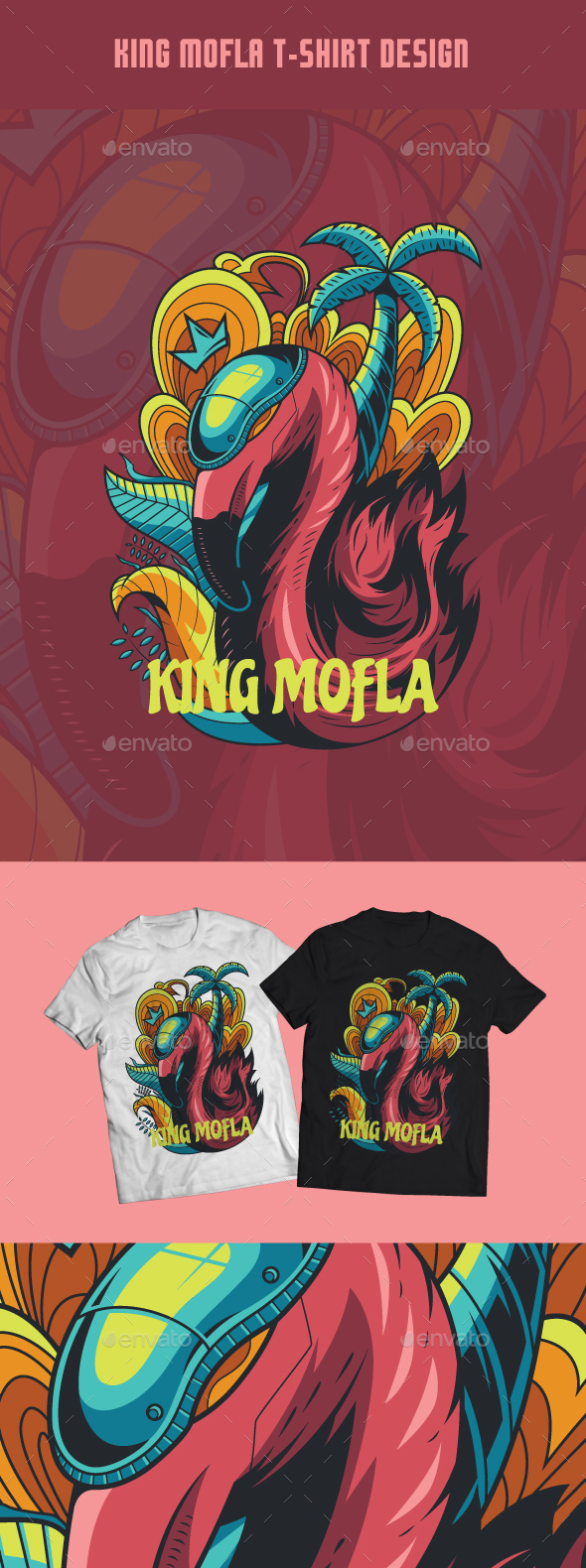 King Mofla T-Shirt Design