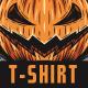 Pumpkin Warrior T-Shirt Design