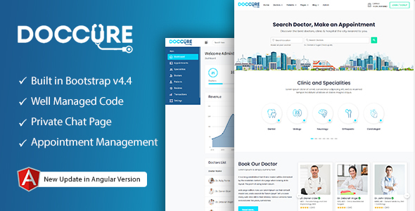 Doccure – Doctor Appointment Booking System Bootstrap Angular Template (Angular)
