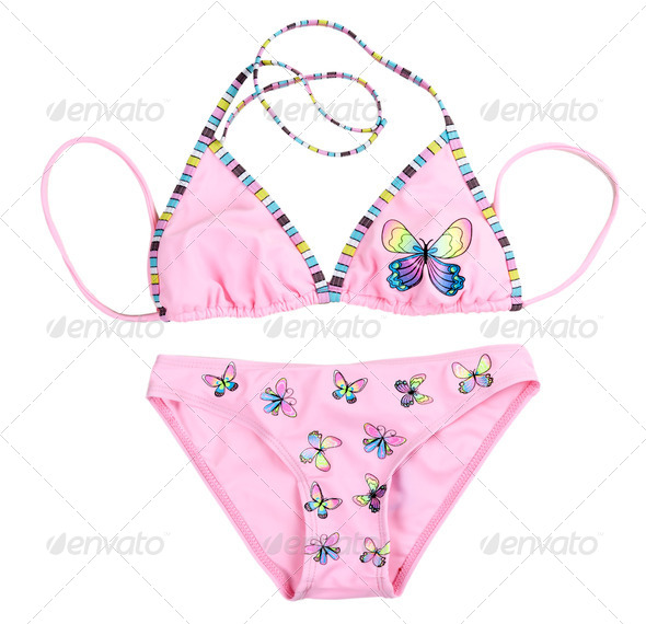 pink leotard with patterned butterflies - Stock Photo - Images