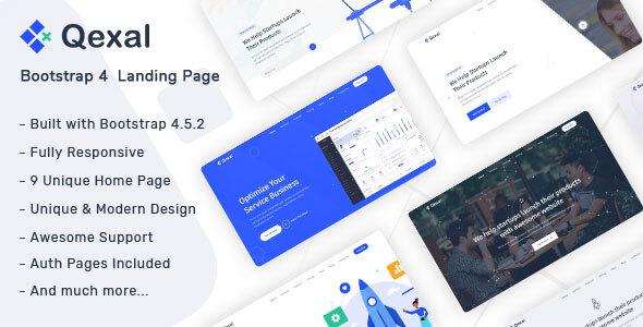 Qexal – Landing Page Template