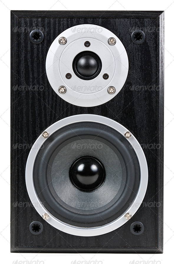 black speaker - Stock Photo - Images