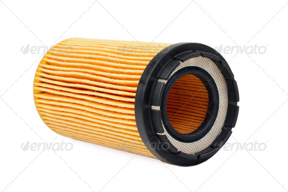 car oil filter - Stock Photo - Images