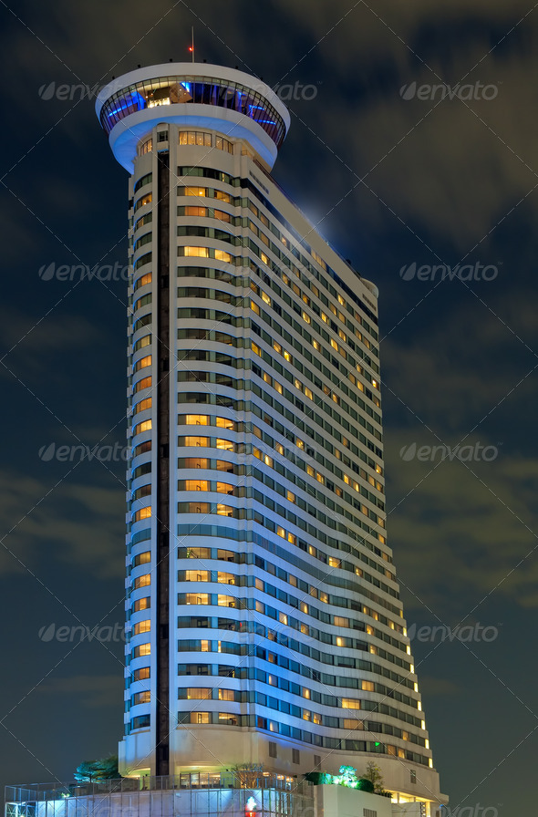 Tall building a fancy kind of night - Stock Photo - Images