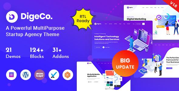 Digeco – Startup Agency WordPress Theme