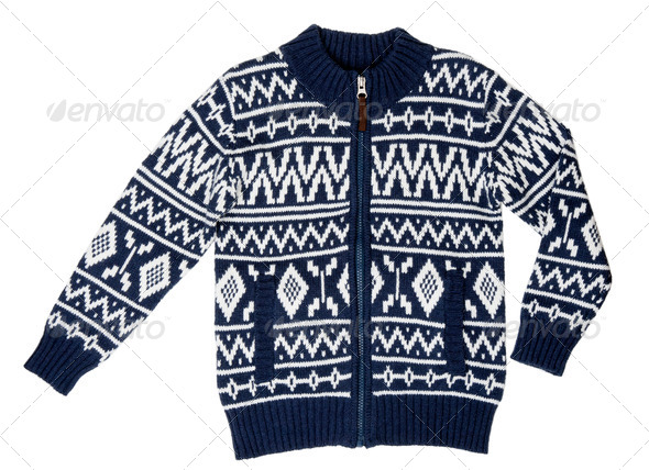 a winter sweater with a pattern - Stock Photo - Images