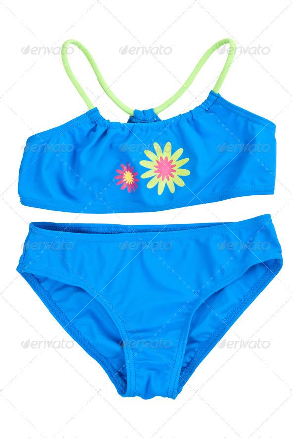 blue swimsuit - Stock Photo - Images