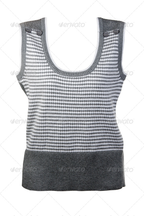 warm gray vest - Stock Photo - Images