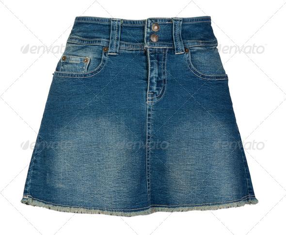Women's denim skirt - Stock Photo - Images